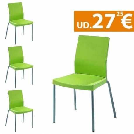 Conjunto 4 sillas de comedor Paris