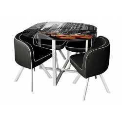 Set mesa con 4 sillas Mel
