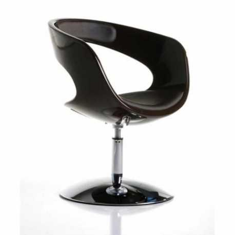 Conjunto 2 sillas Ronda negro