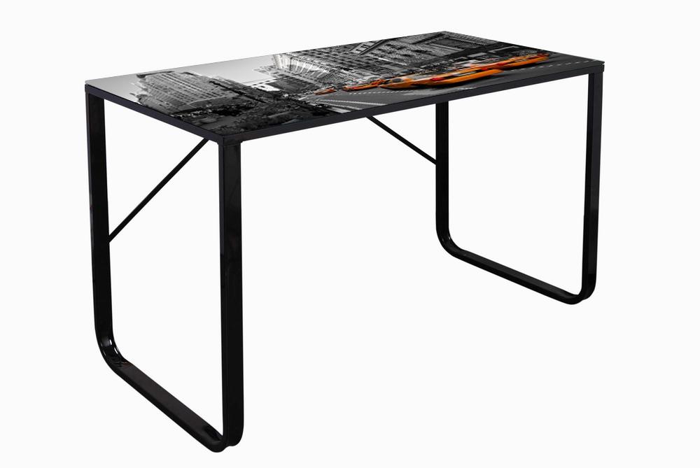 Mesa de estudio cristal mesa ordenador acero y cristal - Mesa estudio cristal ...