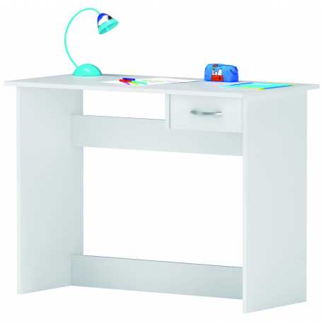 Mesa Escritorio Alpin|Blanco|Con un cajón|