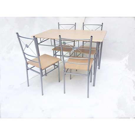 Conjunto mesa y 4 sillas Nisel
