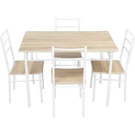 Conjunto Mesa y 4 sillas Deli
